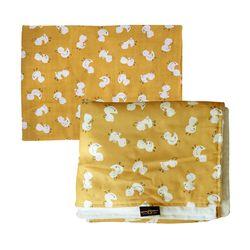 오리의나들이 패턴 거즈 극세사 2종세트 아기 사계절 블랭킷