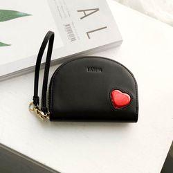 하프문 하트 카드지갑 블랙(AG2H02R3DABB)