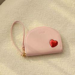 하프문 하트 카드지갑 핑크(AG2H02R3DAPP)