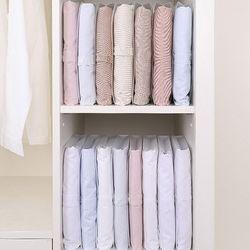 옷커버 옷접기판 접어서보관하는 셔츠케이스 5개