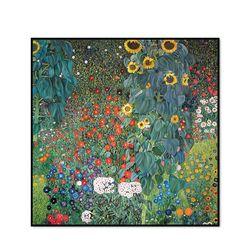 해바라기 꽃이 있는 농장 정원 40.6x40.6cm