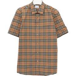 국내발송)버버리 8020965 심슨 체크 남성 반팔 셔츠