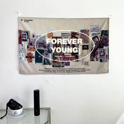 포레버영 자체제작 패브릭포스터 85x55cm