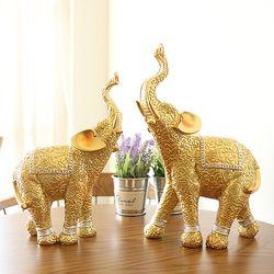 골드 코끼리 장식품 OEL013 (대) 2P SET 인테리어장식소품