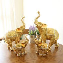골드 코끼리 장식품 OEL013 4P SET 인테리어장식소품