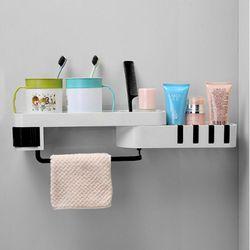 무타공 욕실선반 틈새 공간활용 접착식 모서리 코너 목욕선반