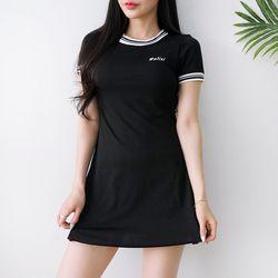 블랙티 원피스 수영복(2pcs)