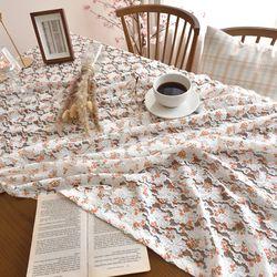 쁘띠환타 레이스 테이블보 식탁보(2인)(110x110cm)
