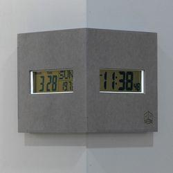 (ktk180)디지털 코너시계 (그레이)