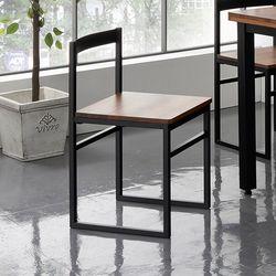 네퍼 멀바우 원목 스틸 의자