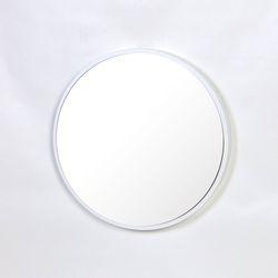 우드 카운티 원형 모던 벽거울 420-화이트 프레임