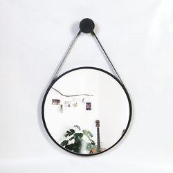 우드 카운티 스트링 모던 벽거울 420-블랙 프레임