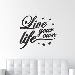 너만의 인생을 살아 - 감성 레터링 인테리어 스티커