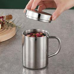 보온보냉 뚜껑 스텐 머그컵 (10.5x9.5x7cm)