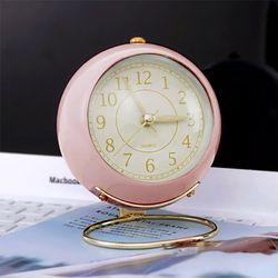 뉴트로 파스텔 알람 탁상시계 (핑크)