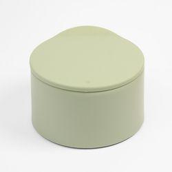파스텔 원터치 반자동 휴지통 (그린)