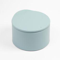파스텔 원터치 반자동 휴지통 (블루)