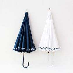 마린스타일 장우산 곡선형 손잡이