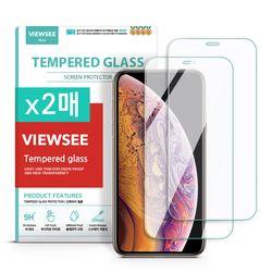 아이폰XS/X 투명 강화유리필름 2매구성