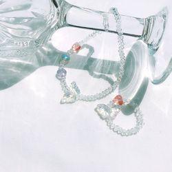 행운 나비 비즈 반지+팔찌 세트 홀로그램 AGBP21402MWW