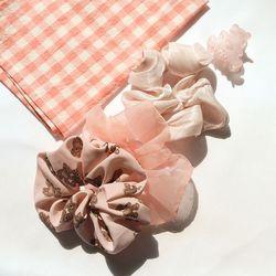 곰돌이 쉬폰 곱창 4종 세트 핑크 AGHA21407DPP