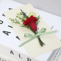 어버이날 카네이션 프리저브드꽃상품권봉투(레드)