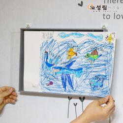아이그림액자 아이방 인테리어 아이 그림 보관