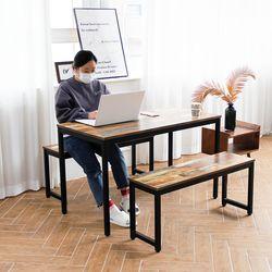 더조아 모던식탁셋트A형1200 벤치의자 4인용식탁셋트