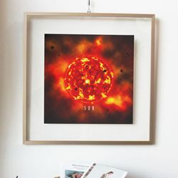 pg409-투명액자56CmX56Cm태양