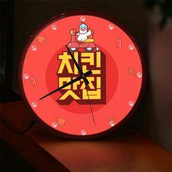 ng574-LED시계액자35R치킨맛집