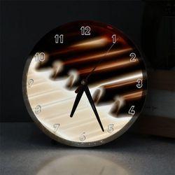 nf733-LED시계액자25R빛나는피아노