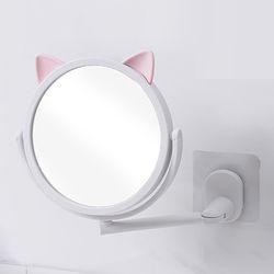 빠띠라인  큐티레빗 원형 욕실형 붙이는 2단거울