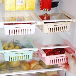 주방 냉장고정리트레이 늘어나는 클립형서랍 4개