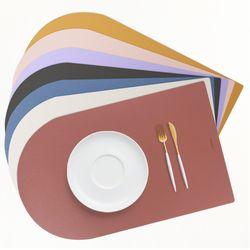 모노 양면 가죽 방수 테이블매트 식탁매트 식탁보