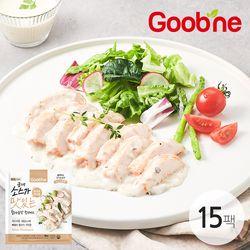 굽네 소스가 맛있는 닭가슴살 소맛닭 화이트 머쉬룸 120g 15팩