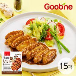 굽네 소스가 맛있는 닭가슴살 소맛닭 데미갈릭페퍼 120g 15팩