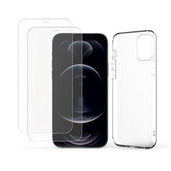 주파집아이폰12미니리얼슬림케이스+전면강화유리액정보호필름2매