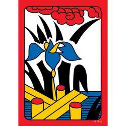 35조각 판퍼즐 - 화투 5월 난초 치매예방