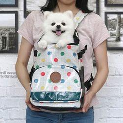도트 강아지 앞가방산책가방(L사이즈)