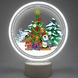 남극의 크리스마스 트리 DIY 무드등 어린이보석십자수