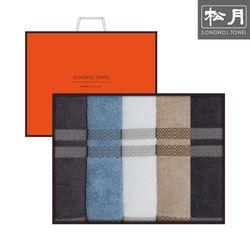 송월 썬셋 뱀부얀 160g 호텔수건 5매 선물세트