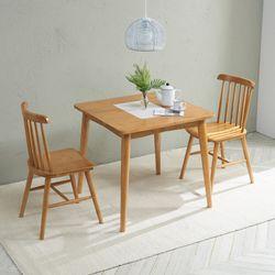 밤비 고무나무 2인용 원목 식탁세트TB21F29