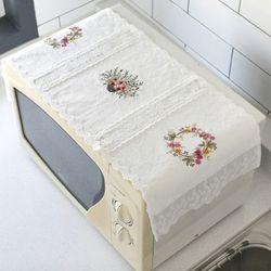 [꾸미까]꽃자수 전자렌지 커버