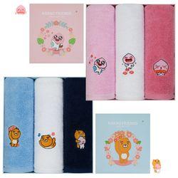 카카오프렌즈 플라워 수건 3P 세트 선물박스 포함