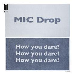 BTS 방탄소년단 MIC Drop 뱀부죽사 세면타월 2매세트 170g