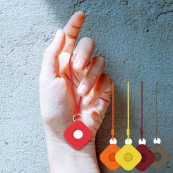 애플 에어태그 분실방지 고리 키링 사각 실리콘케이스