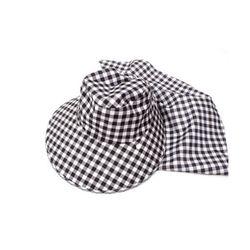 탈부착형 그늘막 여자 체크 썬캡 여름 모자