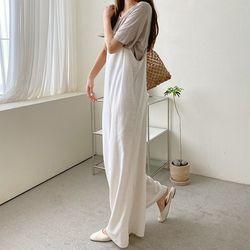 N Linen Cotton Wide Jumpsuit