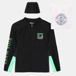 배색절개레쉬가드집업ULAR21501