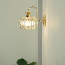 크리스탈 골드 LED 벽등 (8w옥수수램프포함)